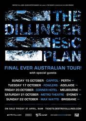 Tours: Dillinger Escape Plan plan final Down Under tour