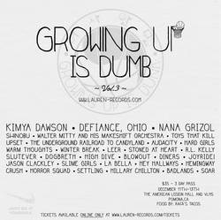 Shows: Growing Up Is Dumb 2015 scheduled