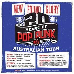 Tours: New Found Glory and the 20 Years Of Pop Punk tour
