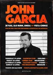 Tours: John Garcia touring acoustically in Australia