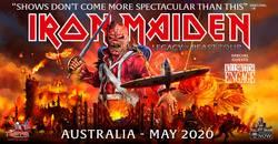 IRON MAIDEN to incarnate on terra australis in 2020
