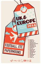 Tours: Football Etc. and Papermoons announce European tour