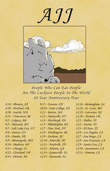 Tours: 10 years of People Who Can Eat People Are The Luckiest People On Earth