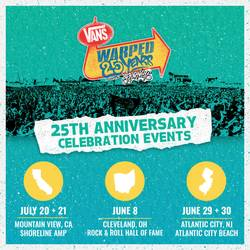 Tours: Warped is back:  bigger and in 3 cities for 25th anniversary