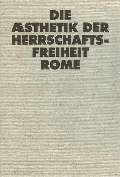 Rome – Die Æsthetik der Herrschaftsfreiheit cover artwork