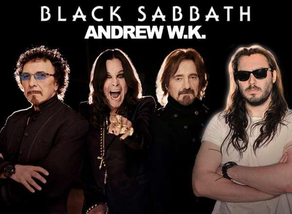 Black Sabbath and Andrew WK on tour