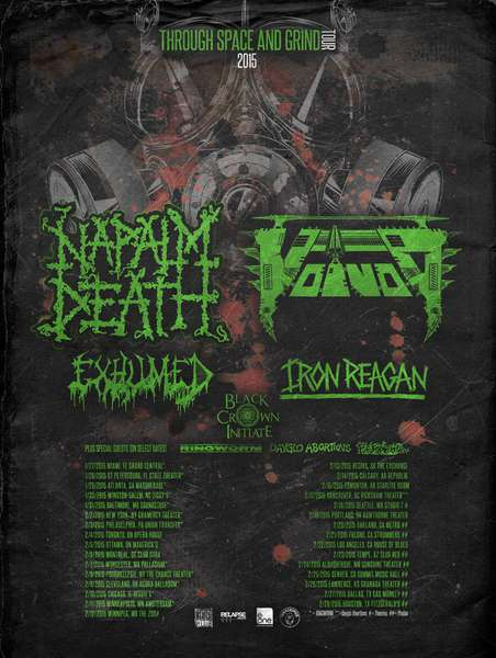 Napalm Death joins Voivod on the road