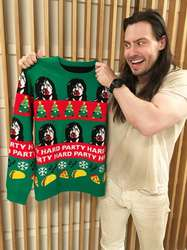 The Andrew W.K. sweater collection (and a new record)