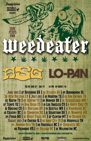 Weedeater plans North American tour